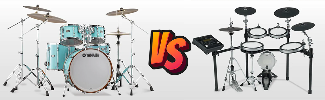 Acoustic Drums VS. Electronic Drums: Which Option Is Better?